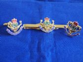 QUEEN'S OWN HIGHLANDERS ( THE HIGHLANDERS ) CUFF LINK AND TIE GRIP / CLIP SET